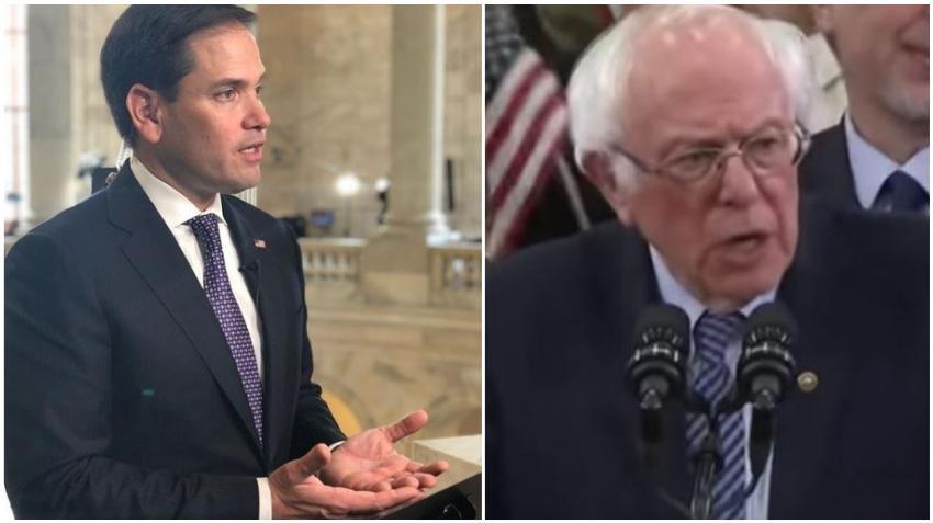 """Senador Marco Rubio contesta a Bernie Sanders: """"El marxismo no ofrece 'seguridad' y no tienes la libertad de hacer nada al respecto"""""""