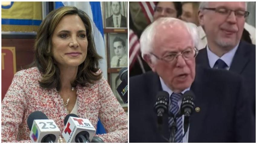 Cubana María Elvira Salazar responde a Bernie Sanders