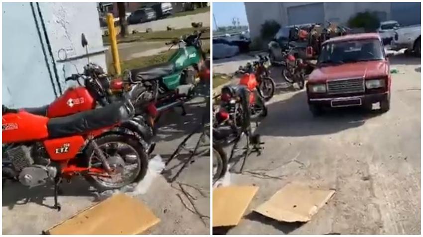 Los cubanos y el síndrome de Estocolmo; se vuelven virales imágenes de autos Lada y motos MZ en Miami