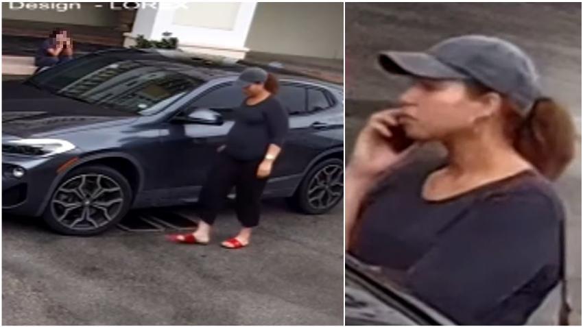 Policía de Coral Gables busca a una mujer que raspó un auto con una llave por un espacio de estacionamiento