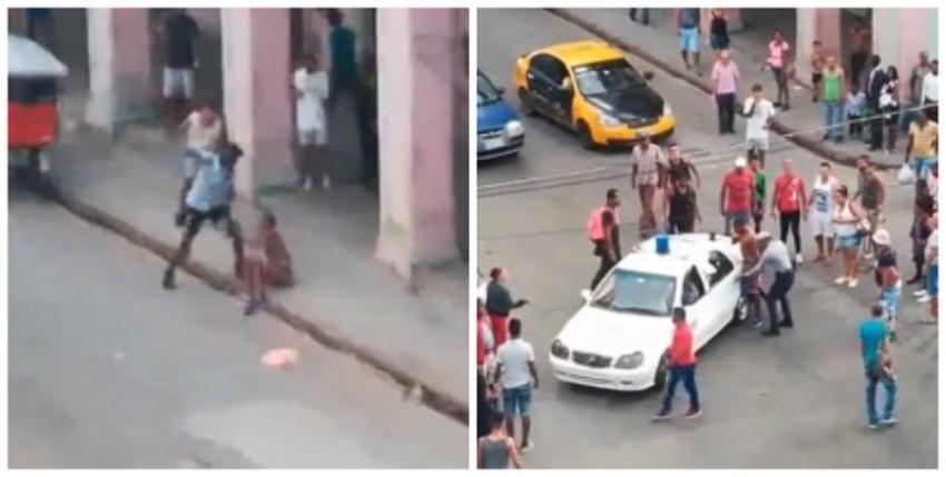 Joven fue apuñalado en medio de la calle en La Habana Vieja, el agresor se fue caminando como si nada