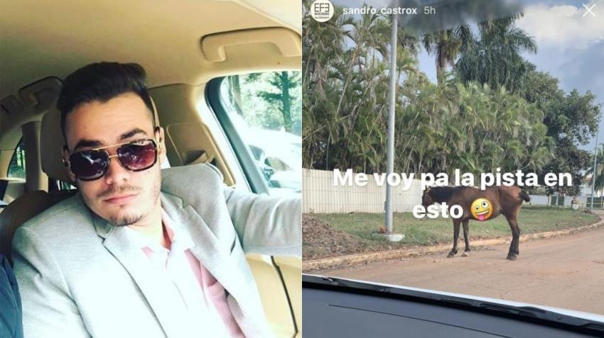 """Nieto de Fidel Castro dice que se va """"para la pista"""" en un caballo mientras maneja su auto sin problemas de gasolina"""