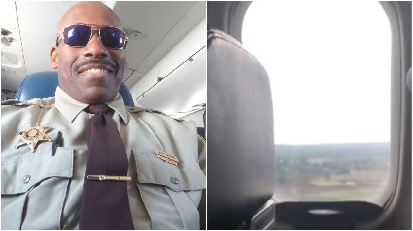 Policía de Estados Unidos de origen cubano aterrizó en Cuba vestido con su uniforme de Sheriff