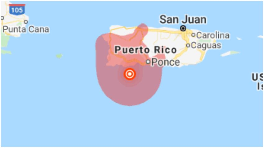 Sismo de magnitud 5.0 afecta a Puerto Rico