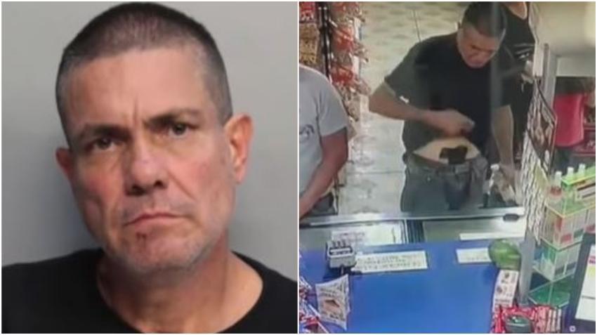 Arrestan a un hombre armado que amenazó a una cajera en un supermercado de Hialeah