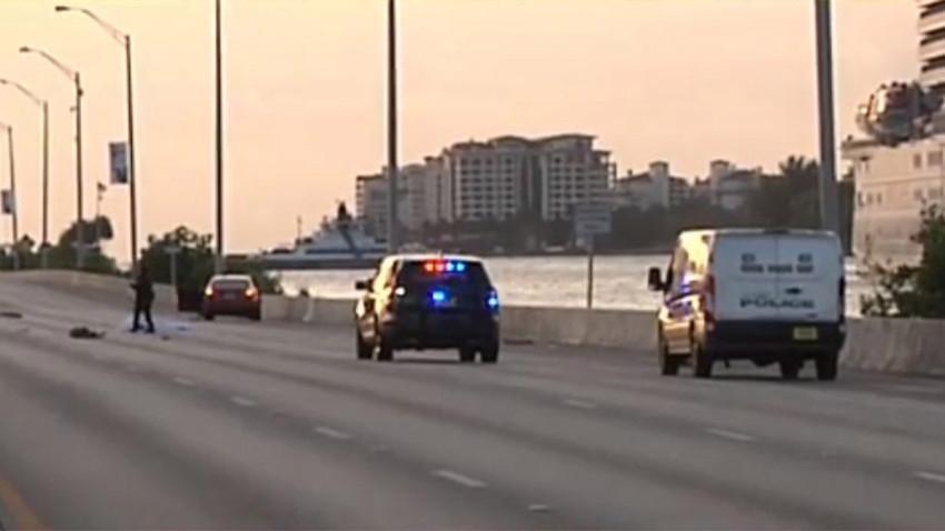 Accidente fatal en MacArthur Causeway, Miami Beach, cierra carriles hacia el este