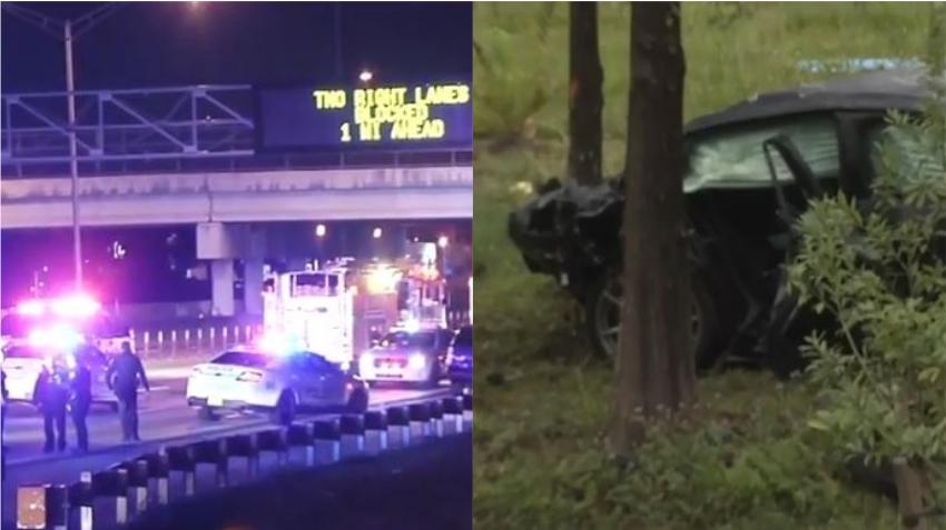 Un automóvil se sale del Palmetto Expressway en el Doral causando la muerte de tres personas