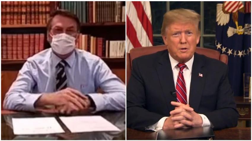 Presidente de Brasil, Bolsonaro, quien se reunió con Trump dio negativo para el coronavirus tras un segundo test