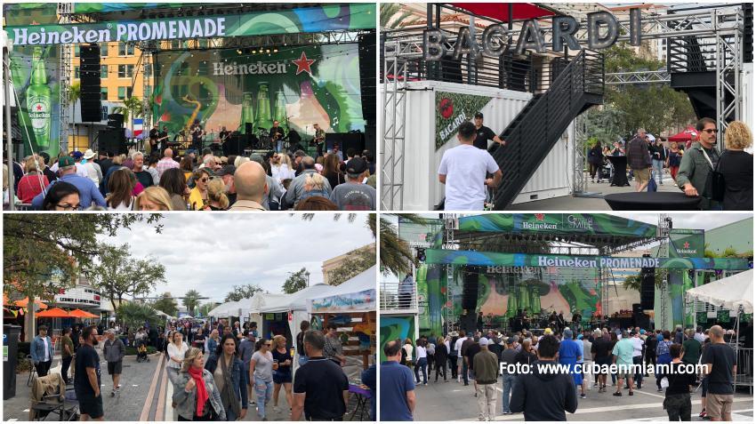 A pesar de los temores por el coronavirus el festival de Carnaval on the Mile en Coral Gables se desarrolla con normalidad