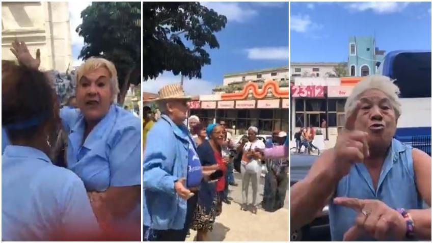 Defensores de la dictadura agreden a un grupo de cubanos que se manifestaba pacíficamente en La Habana por la libertad de Luis Manuel Otero Alcántara