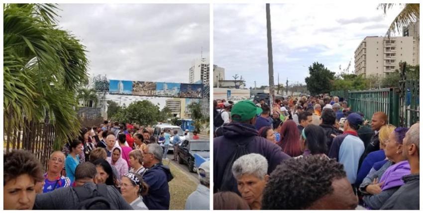Ulises Toirac documenta multitudinaria cola en el mercado de 3ra y 70 para comprar pollo