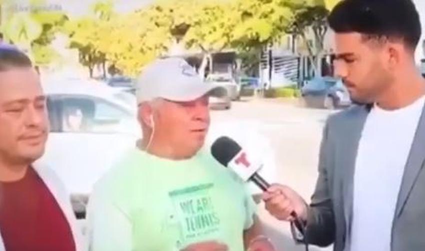 """Cubano de Miami sorprende a reportero de Telemundo: """"No entiendo que no haya papel pa' limpiarse el c..."""""""