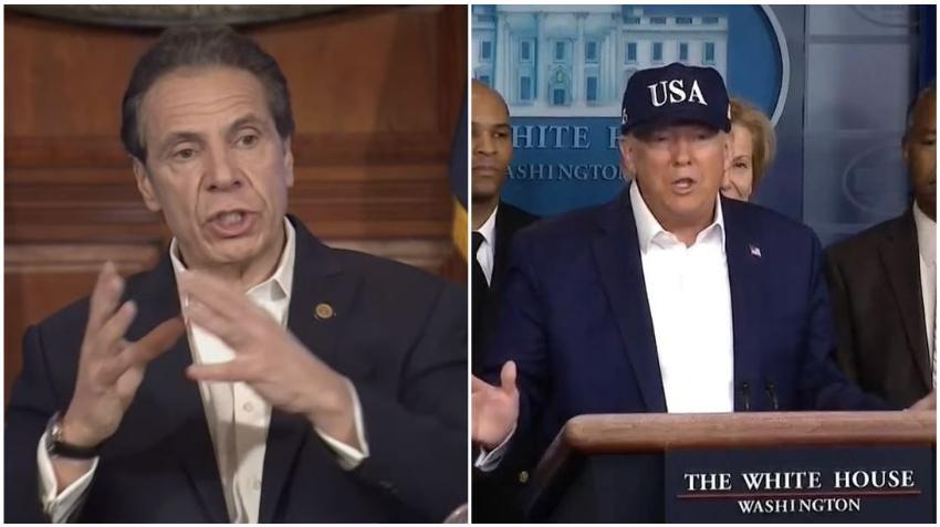 Gobernador de Nueva York asegura que será un caos si el presidente Trump impone una cuarentena forzada al estado