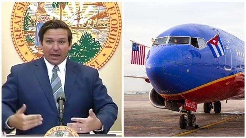 Gobernador de Florida pide cancelar los vuelos a Cuba