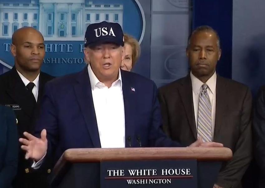 Presidente de Estados Unidos, Donald Trump confirma que se ha hecho la prueba del coronavirus y está esperando los resultados