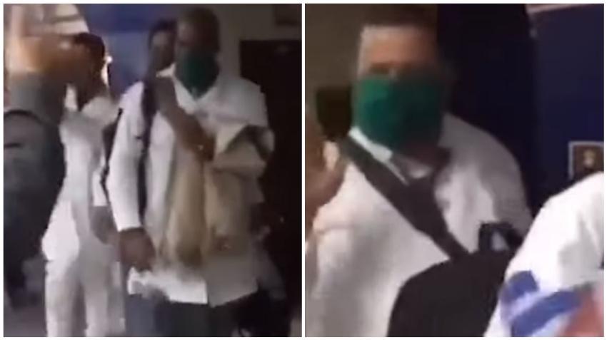 Médicos cubanos que viajaron a Italia a combatir el coronavirus fueron despedidos con aplausos en La Habana