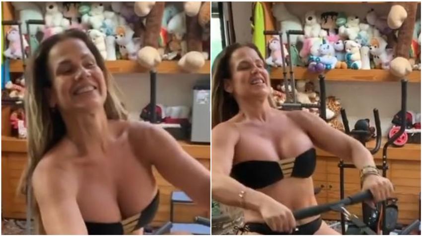 La cubana Niurka Marcos aprovecha la cuarentena para ponerse en forma