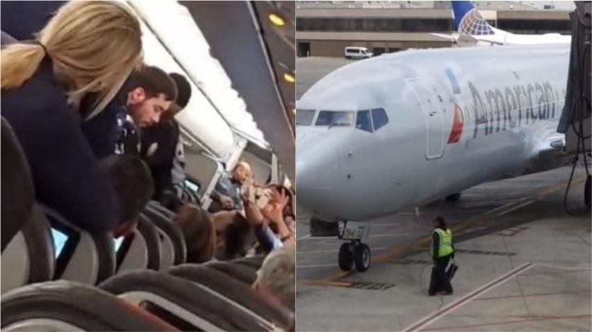 Pasajero de American Airlines crea caos al intentar abrir durante el vuelo la puerta de emergencia