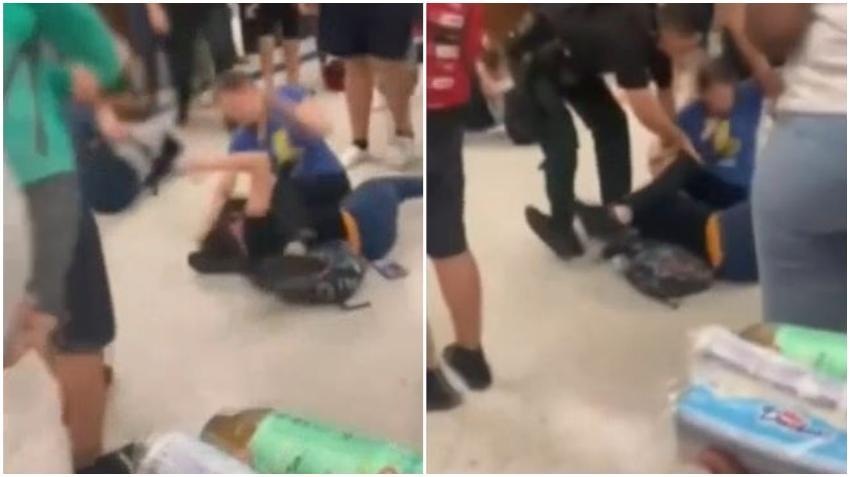 Violenta pelea en una secundaria básica en Florida queda captada en cámara