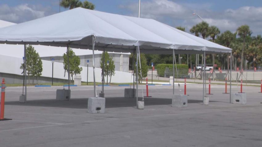 Habilitan nuevo sitio móvil de pruebas del coronavirus en Miami para personas mayores de 65 años