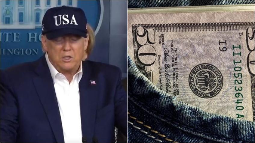 Presidente Trump insiste en que la segunda ronda de estímulo será superior a los $1200 dólares de la primera vuelta