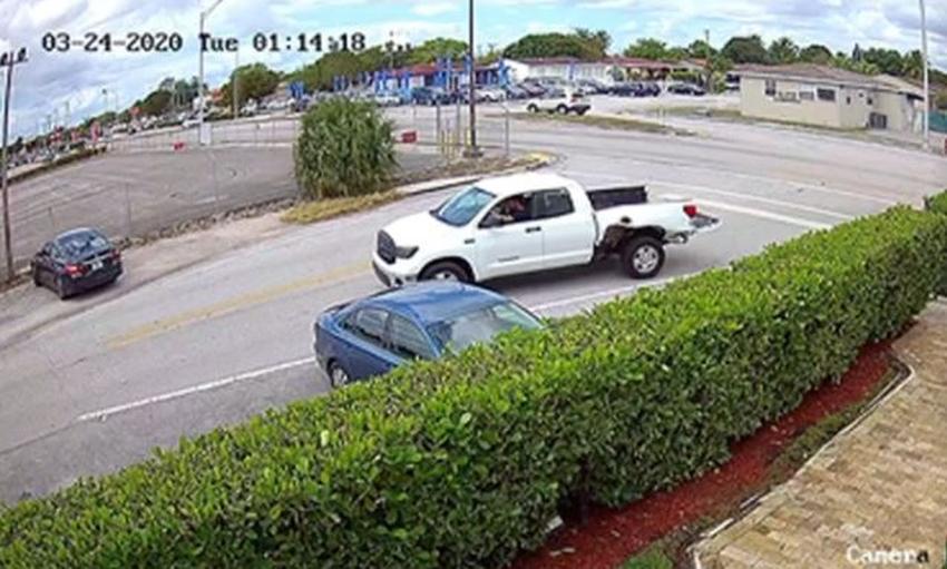 Policía de Hialeah pide ayuda para localizar a conductor de camioneta que abandonó la escena de un accidente