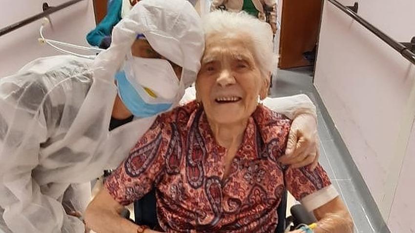 Anciana de 104 años en Italia sobrevive al coronavirus