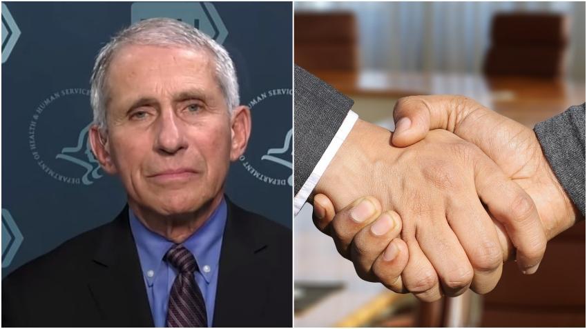 Dr. Anthony Fauci asegura que los estadounidenses deberían dejar de darse la mano
