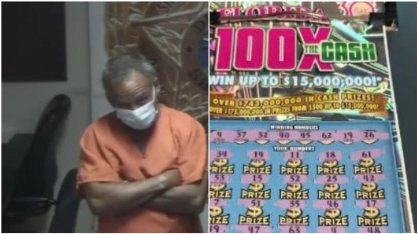 Un cubano es arrestado acusado de robar decenas de raspaditos de la Lotería de una tienda en Miami