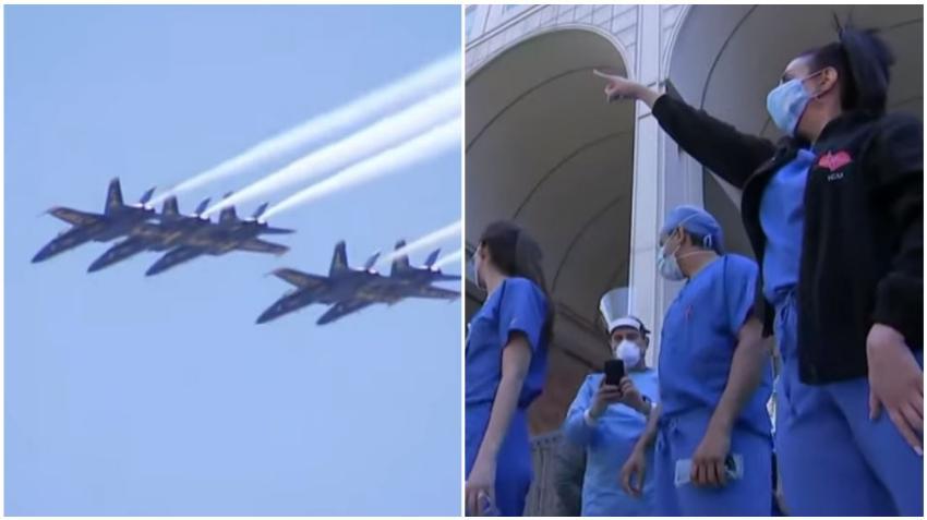 Armada de honor de la Fuerza Aérea de EEUU vuela para rendir tributo a los trabajadores de la salud