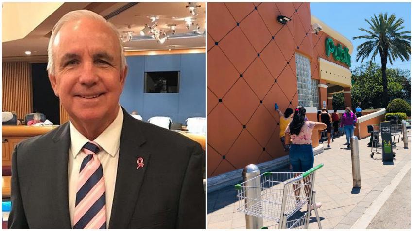 Alcalde de Miami-Dade Carlos Giménez sugiere que la distancia social en el condado podría durar un año