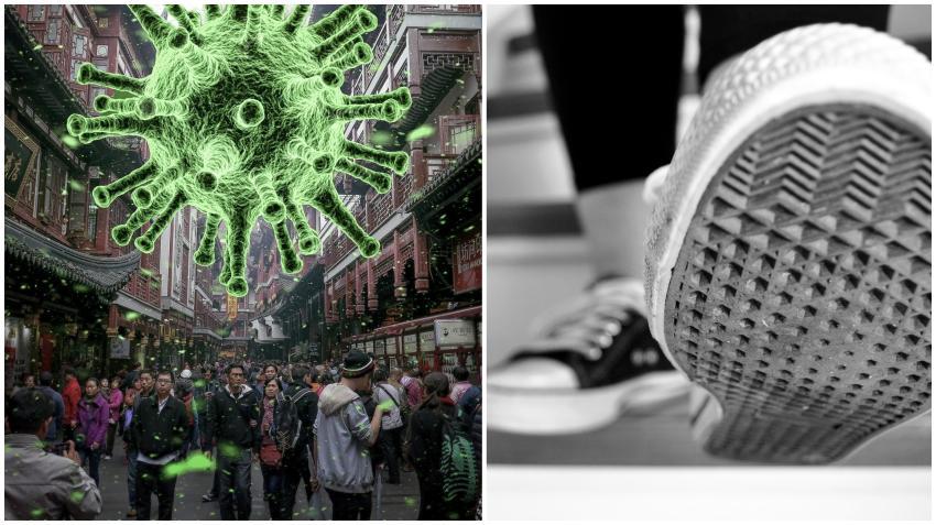 Informe publicado en la página del CDC asegura que el coronavirus puede viajar 13 pies y se puede transportar en las suelas de los zapatos según estudio en un hospital en Wuhan, China