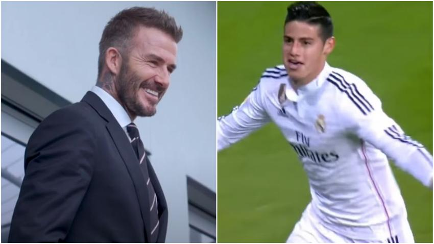 David Beckham en conversaciones con James Rodríguez para traerlo a jugar a Miami