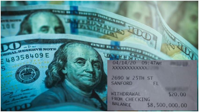 Una mujer de Florida que recibió el dinero del estímulo económico encuentra 8.5 millones de dólares en su cuenta de banco