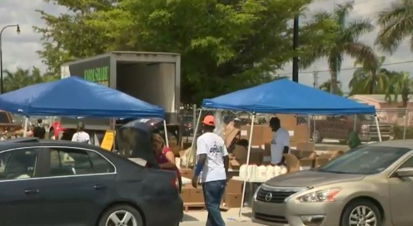 Centros de distribución gratuita de comida que estarán abiertos esta semana en Miami