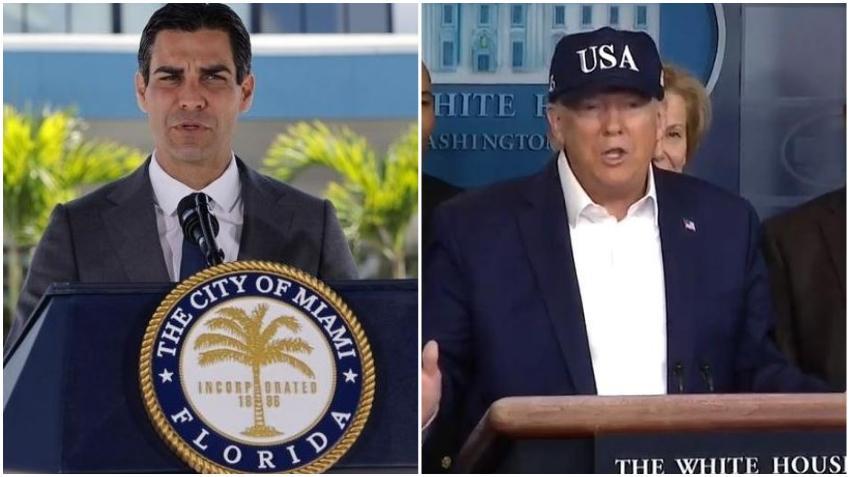 Alcalde de Miami Francis Suárez escribe carta al presidente Trump pidiendo la suspensión de todos los vuelos al aeropuerto de Miami desde lugares afectados por el virus