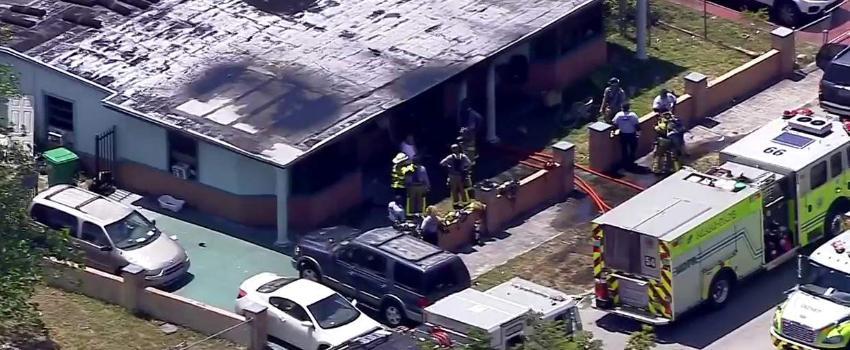 Seis niños trasladados al hospital, algunos en estado crítico, tras un incendio en Miami Gardens
