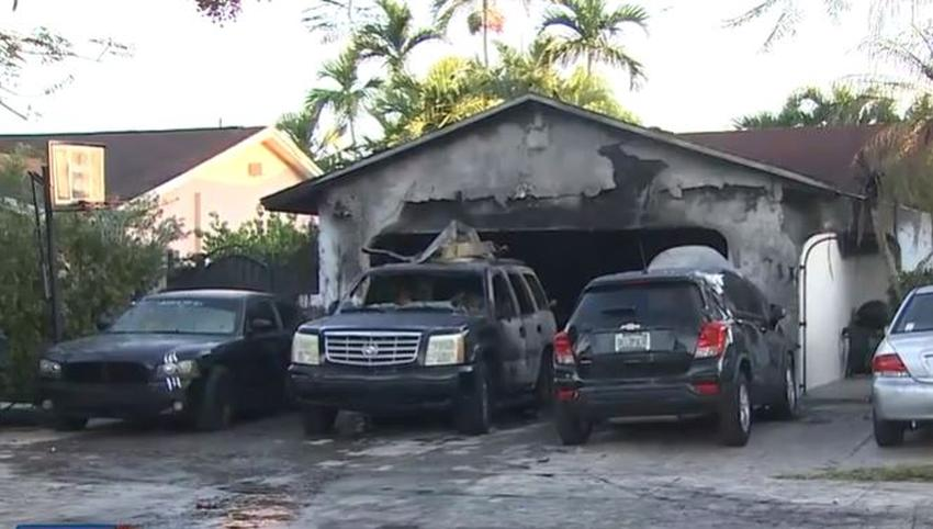 Familia de cinco personas escapa un incendio en una casa del suroeste de Miami Dade