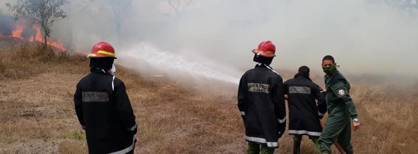 Incendio por desperfecto eléctrico en la Universidad de Matanzas, que está funcionando como centro de aislamiento por el Covid-19