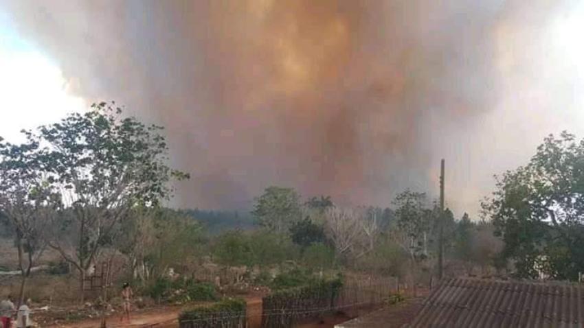 Viviendas afectadas en Villa Clara por gran incendio forestal