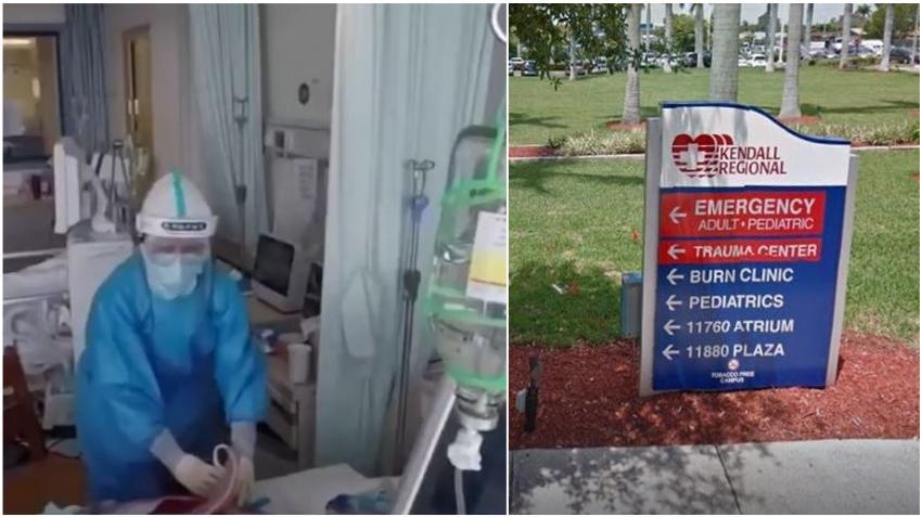Algunos enfermeros del Kendall Regional en Miami se quejan de no tener el equipo de protección adecuado para enfrentar la pandemia de coronavirus