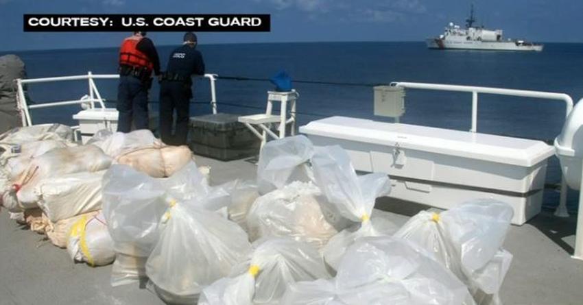 Guardia Costera de los Estados Unidos incauta más de 1 millón de dólares en marihuana de una embarcación en el Caribe