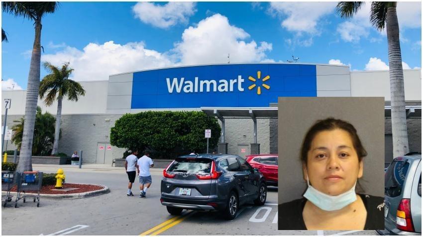 Arrestan una mujer en Florida tras escupir paquetes de fruta en Walmart