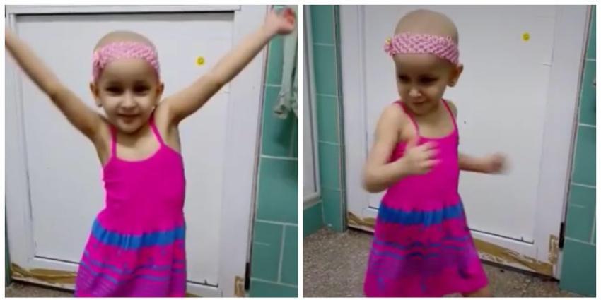 """Pequeñita cubana no se deja vencer por el cáncer infantil, y baila al ritmo de """"Sastre de tu amor"""" de Orishas"""