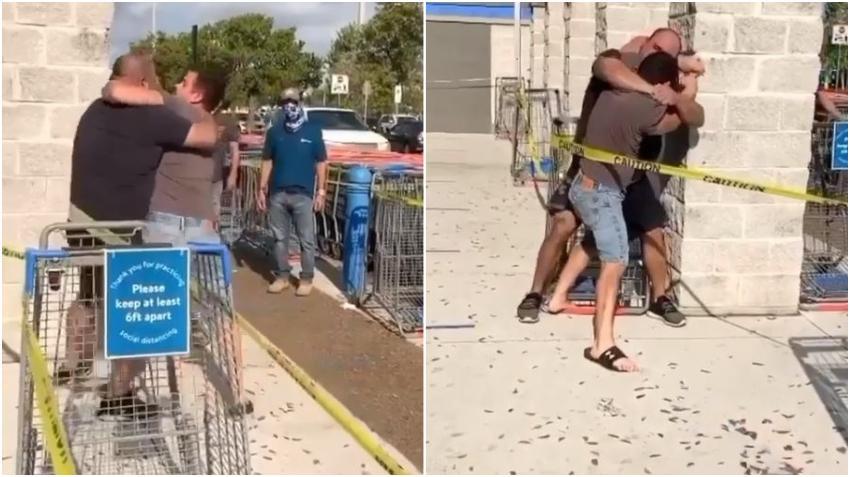 Sin importar el coronavirus dos personas se enfrentan a golpes en el Walmart de la Coral Way en Miami