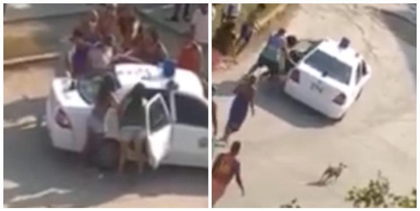 Patrulla traslada a un joven habanero que se desmayó luego de que agentes le propinaran una golpiza