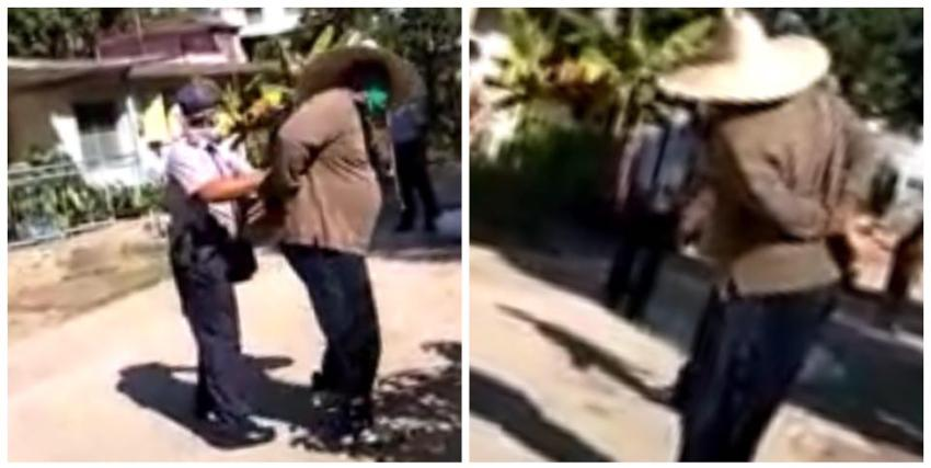 Policía arresta y maltrata a un anciano por vender ajo en un barrio de Holguín