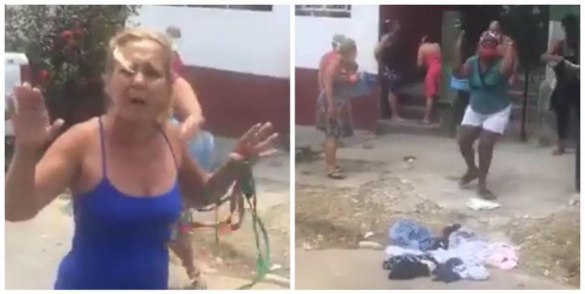 """Mujeres se lanzan a la calle en un barrio de Diez de Octubre por la falta de agua: """"Lo que quieren es que uno se muera"""""""
