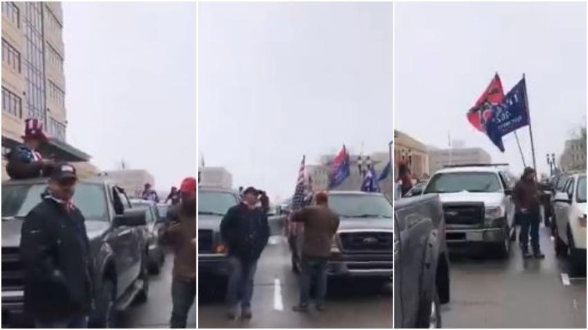 """Residentes en Michigan piden regresar al trabajo con protestas en contra de la gobernadora y la ley de """"quedarse en casa"""""""