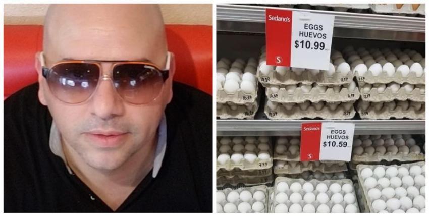 Cubano Erich Concepción  denuncia que Sedano's subió el precio de los huevos en medio de la crisis por el Covid-19